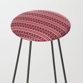 Striped Ahoy Red Counter Stool