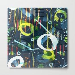 Abstract modern geometric shapes pattern Metal Print