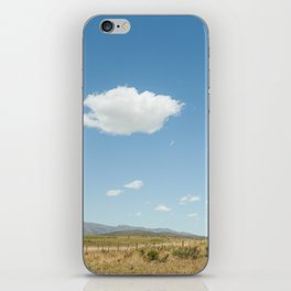 White clouds in the mountains iPhone Skin