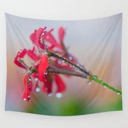 Red pelargonium flower Wall Tapestry