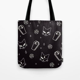 Cute Goth Kitties & Coffins Tote Bag