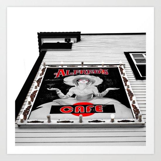 Classic cafe sign Art Print
