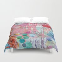 rain Duvet Covers featuring Rain by John Turck