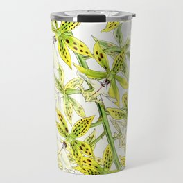 A orchid plant - Vintage illustration Travel Mug