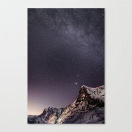 Nightscape with Wetterhorn and Eiger Canvas Print