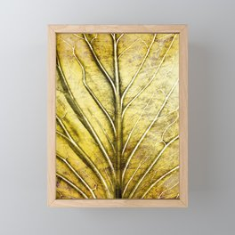 Golden Leaf #gold #golden #leaf Framed Mini Art Print