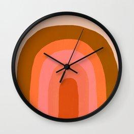 Abstraction_Rainbow_001 Wall Clock