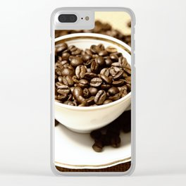 coffee cup Clear iPhone Case
