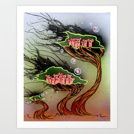 Weeping Willows Art Print