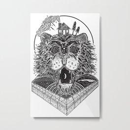 """Sleazy Apparel """"Domus Leo"""" Print Metal Print"""
