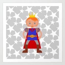 Fairy Tale Handsome Prince Art Print