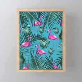 Tropical Flamingo Pattern #4 #tropical #decor #art #society6 Framed Mini Art Print