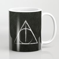 deathly hallows Mugs featuring Deathly Hallows (Harry Potter) by Daizy Jain