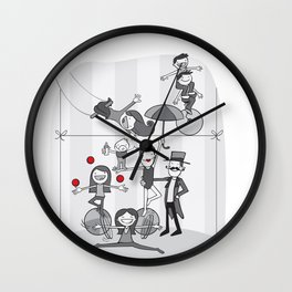 My family is a circus! Wall Clock