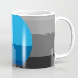 Blue Gray Black Mod Art Coffee Mug