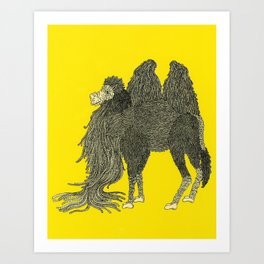 Yellow Camel Art Print