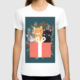 Cats cute christmas xmas tree holiday funny cat art cat lady gift unique pet gifts T-shirt