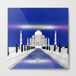 Taj Mahal India Metal Print