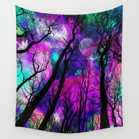 gandalf Wall Tapestries featuring Magical forest by Augustinet