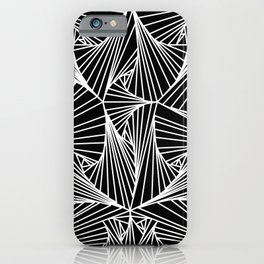 Black And White Line Drawing Illusion Art iPhone Case