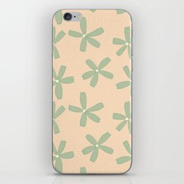 Green & Pink Floral iPhone Skin