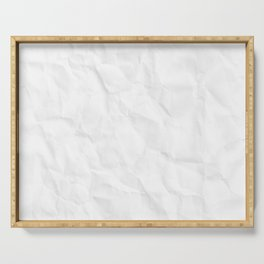 Crumpled paper Serving Tray