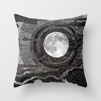 pen Throw Pillows featuring Moon Glow by brenda erickson