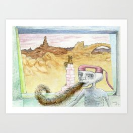 E.T. Comes From A Hairy Planet Art Print
