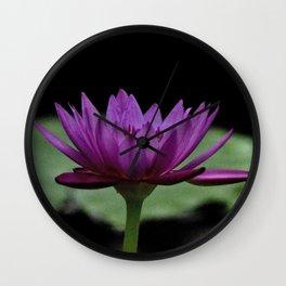 Purple Sacred Lotus Wall Clock