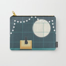 Cat and the Moon Carry-All Pouch