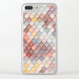 Pastel Mermaid Tile Mosaic Clear iPhone Case