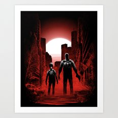 Quarantine: Joel and Ellie Art Print