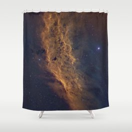 California Nebula Shower Curtain