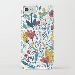 Happy flowers iPhone Case
