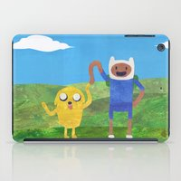finn and jake iPad Cases featuring Finn And Jake! by Ben Morgan