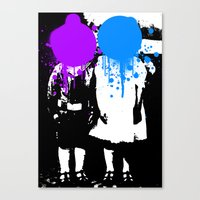 psychology Canvas Prints featuring Twin Psychology by DB & Co.