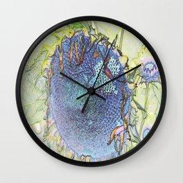 Expressionism Sunflower Wall Clock