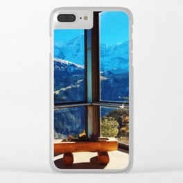 Swiss Alps Looking Glass Clear iPhone Case