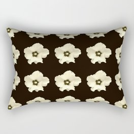 Sepia flower -bloom,blossom,petal,floral,leaves,flor,garden,nature,plant. Rectangular Pillow