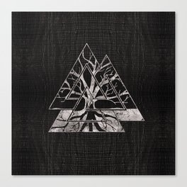 Valknut Symbol and Tree of life  -Yggdrasil Canvas Print