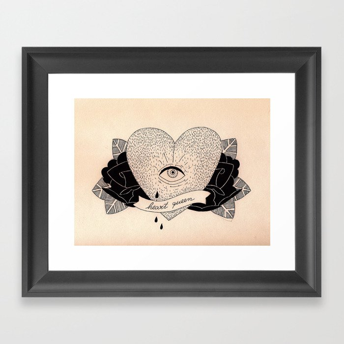 Heart Queen Framed Art Print