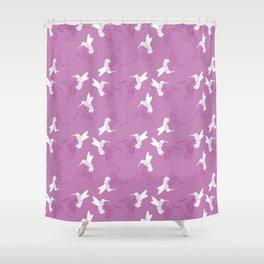 Humming Bird Pink Shower Curtain