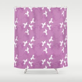 Humming Bird Pink Shower Curtain