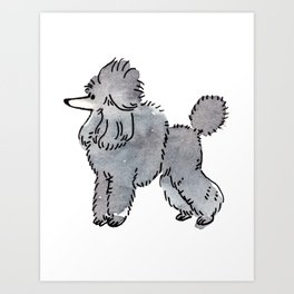 London - Dog Watercolour Art Print