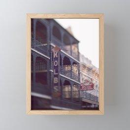 Morning Light in the French Quarter Framed Mini Art Print