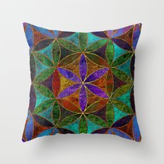 The Flower of Life (Sacred Geometry) 2 Throw Pillow