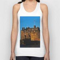 edinburgh Tank Tops featuring Edinburgh Castle by merialayne