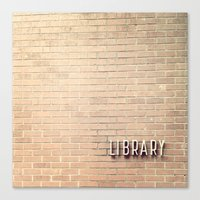 library Canvas Prints featuring Library by Elizabeth Lucas