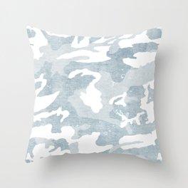 Chambray camo Throw Pillow