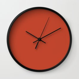 Red Clay Wall Clock